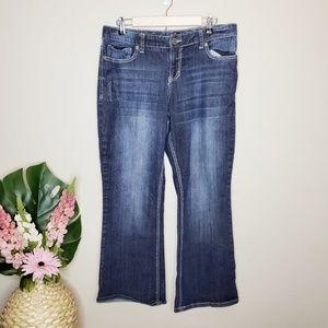 Maurices Dark Wash Bootcut Jeans 13/14 Short
